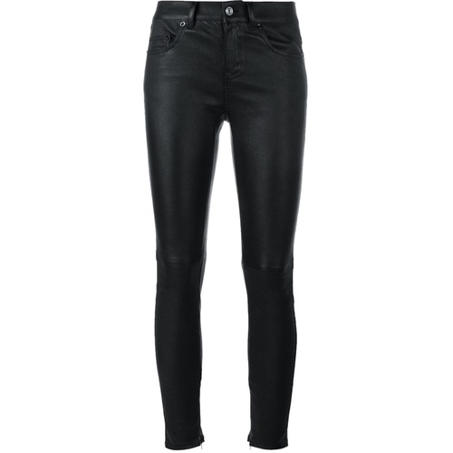 SAINT LAURENT Slim Fit Leather Trousers