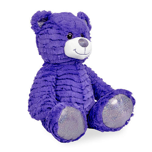 Animal Alley 12 inch Bright Stuffed Teddy Bear - Purple