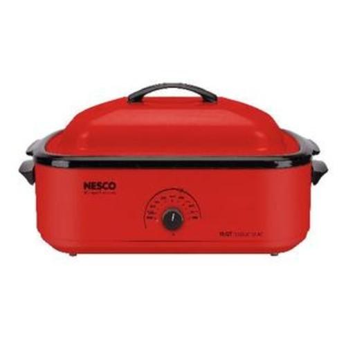 Nesco 18-Quart Porcelain Roaster Oven (Red) - PET