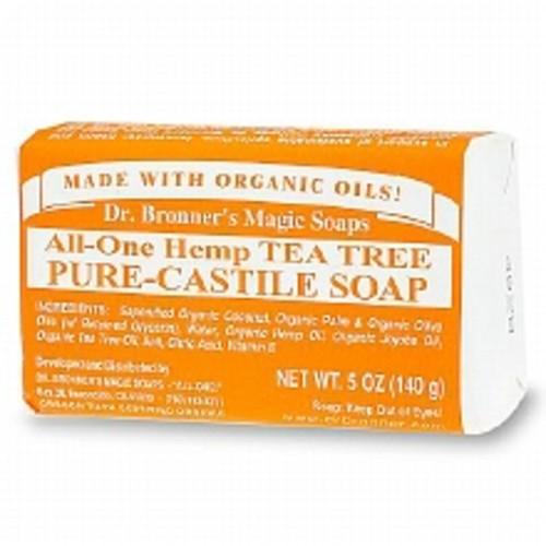 Dr. Bronner's All-One Hemp Pure-Castile Bar Soap Tea Tree