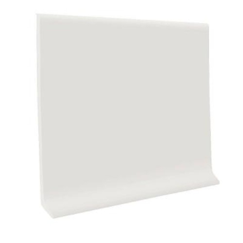 ROPPE White 4 in. x 1/8 in. x 120 ft. Vinyl Wall Cove Base Coil
