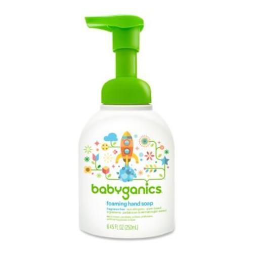Babyganics Foaming Hand Soap- Fragrance Free- 8.45 Ounce Pump Bottle