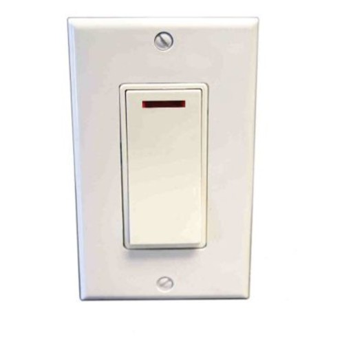 Amba Pilot Light Switch; Almond