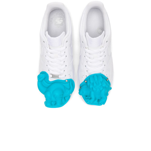 Comme Des Garcons Homme Plus Nike Air Force 1 CDG Custom in White & Blue