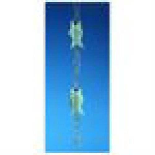 Good Directions 487V1-6 Blue Verde Fish Rain Chain
