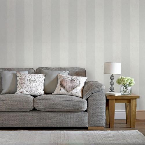 Graham & Brown Dove Artisan Stripe Wallpaper