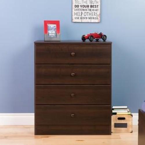 Prepac EDBR-0401-1 4 Drawer Astrid Dresser, Espresso