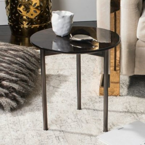 Safavieh Couture Ninibel End Table in Black/Brown