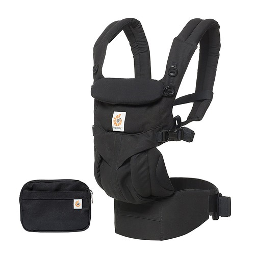 Ergobaby OMNI 360 All-in-One Ergonomic Baby Carrier, All Carry Positions, Newborn to Toddler, Pure Black [Pure Black]