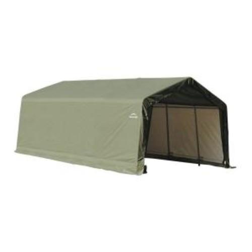 ShelterLogic 12 ft. x 20 ft. x 8 ft. Peak Style Garage Storage Green Shelter