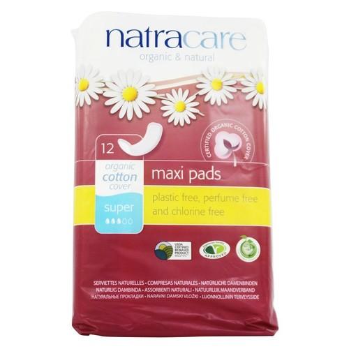 Cotton Natural Feminine Maxi Pads Super - 12 Pad(s)