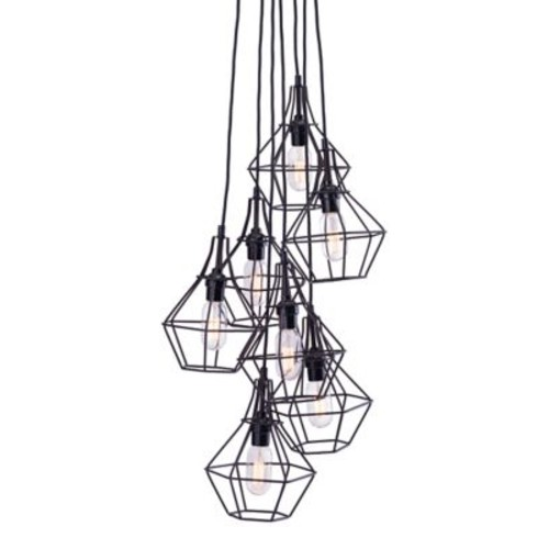 Zuo Modern Palmerston Ceiling Lamp Distressed Black (WC98416)