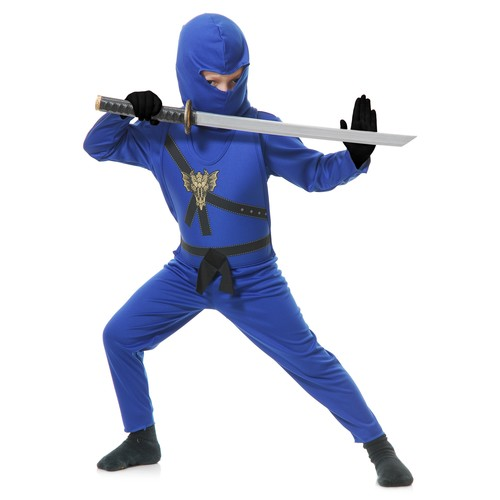 Charades Costumes Blue Ninja Child Costume