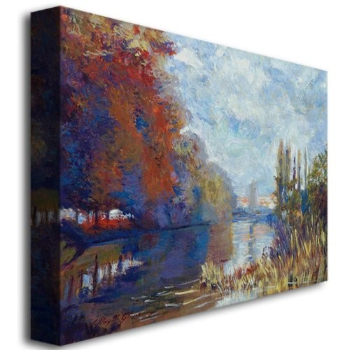 Trademark Fine Art Argenteuil on the Seine by David Lloyd Glover Canvas Wall Art, 26x32-Inch [26 by 32-Inch]