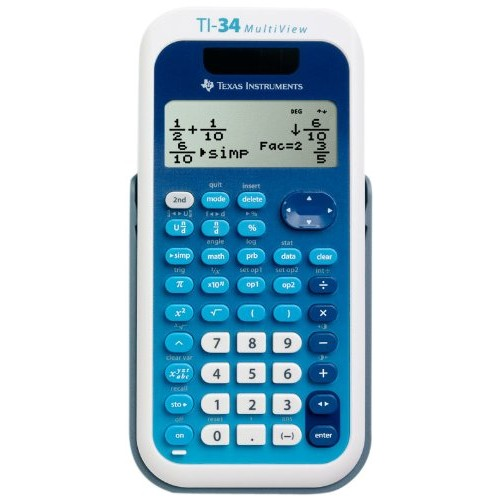 Texas Instruments TI-34 MultiView Scientific Calculator [1-Pack]