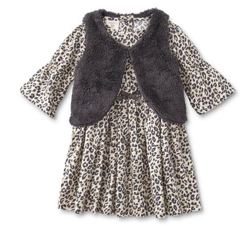WonderKids Toddler and Infant Girls' Dress & Vest - Cheetah [Age : Infant]