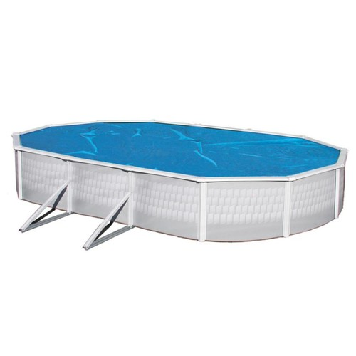 Swim Time 21' x 41' Oval 8 mil Solar Blanket For Above-Ground Pools, Blue