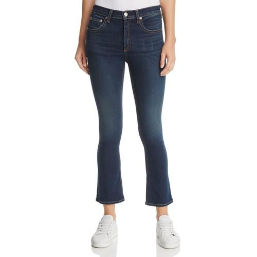 RAG & BONE/JEAN Hana Crop Flare Jeans In Bedford