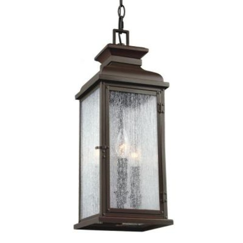 Feiss Pediment 2-Light Dark Aged Copper Outdoor Pendant