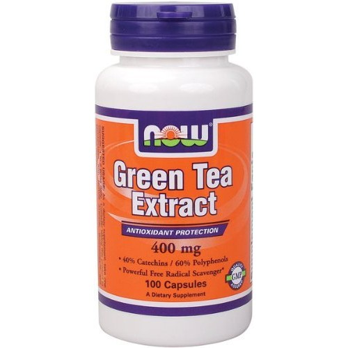 NOW Green Tea Extract 400mg,100 Capsules [100-Count]