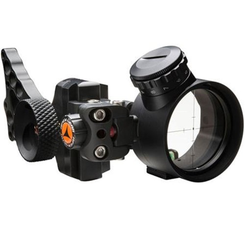 Apex Gear COVERT PRO 1 Dot Adjustable Green LED PWR-DOT Bow Sight, Black