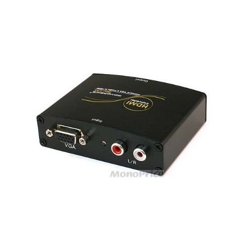 Monoprice 104629 VGA and R/L Stereo Audio to HDMI Converter with DC Adapter