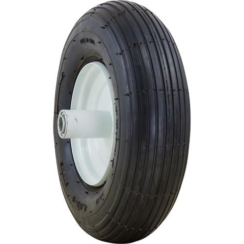 Marathon Tires Pneumatic Wheelbarrow Tire  3/4in. Bore, 4.006in.