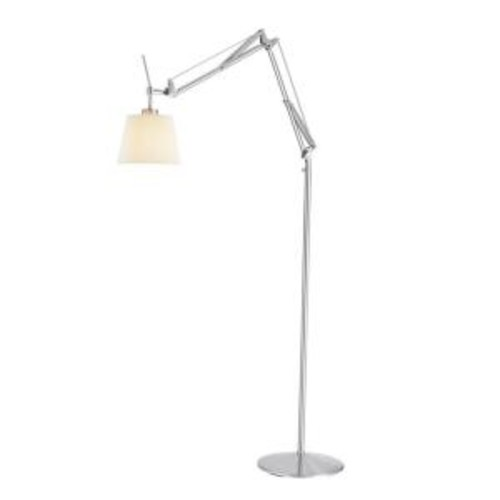Adesso Architect 71 in. Satin Steel Floor Lamp