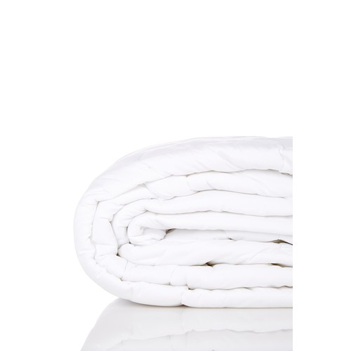 Twin Microfiber Mattress Pad - White