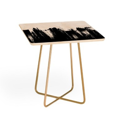 Kelly Haines Monochrome Brushstrokes Side Table by Deny Designs