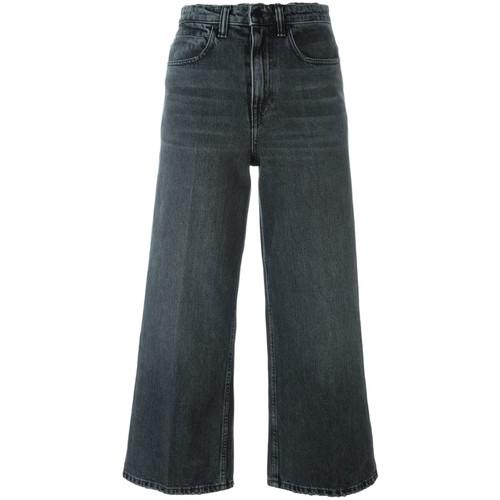 ALEXANDER WANG Cropped Wide Leg Jeans