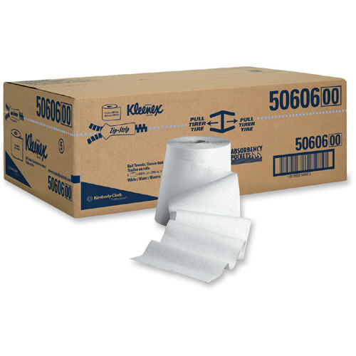 Kleenex White Hard Roll Paper Towels (6 Rolls/Carton)