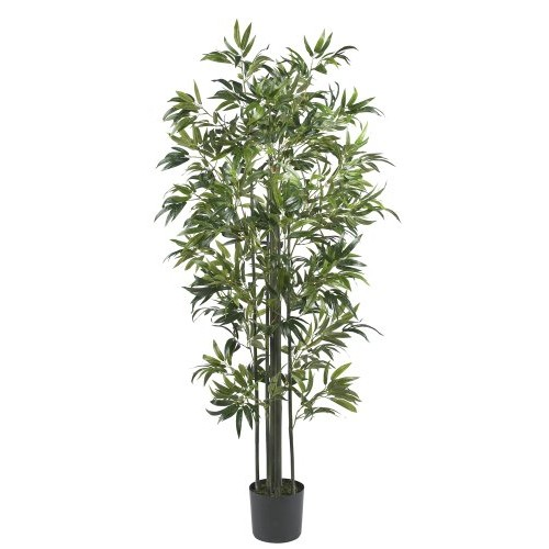 Nearly Natural 6' Bamboo Silk Tree (Green Trunks)