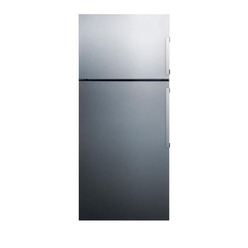 Summit Appliance 27 in. 12.6 cu. ft. Top Freezer Refrigerator in Stainless Steel, Counter Depth