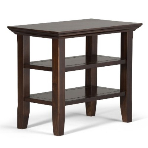 Simpli Home Acadian Tobacco Brown Storage Side Table