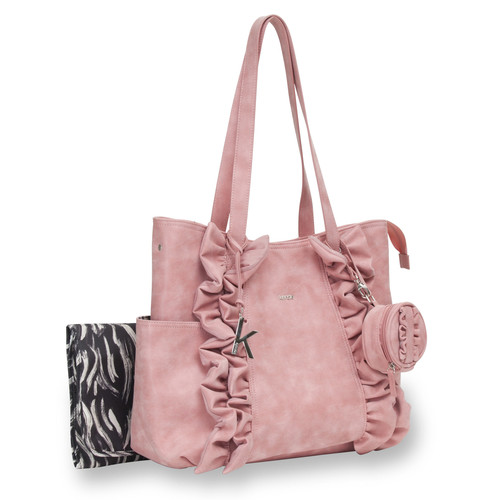 Kensie Auckland Pickard 3 Piece Tote Diaper Bag Set - Pink