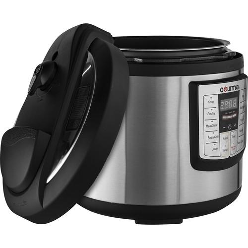 Gourmia - 6-Quart Pressure Cooker - Stainless steel