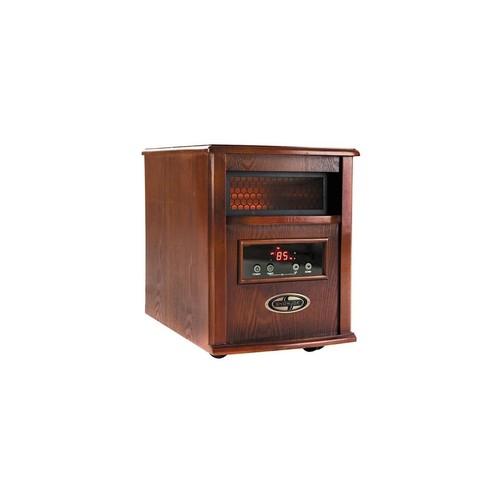 Sun Joe SJQH1500-DO 1500 Watt Quartz Portable Infrared Space Heater Dark Oak Wood