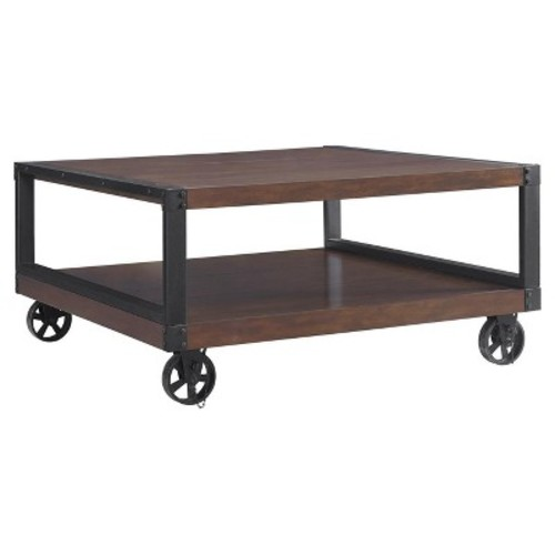 Altra Furniture Wade Mahogany Mobile Coffee Table
