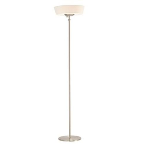 Adesso 5169 Harper Incandescent Floor Lamp, Satin Steel