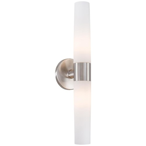 George Kovacs Saber 2-Light Brushed Stainless Steel Wall Sconce