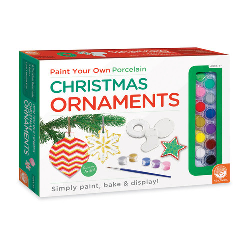 MindWare Paint Your Own Porcelain Christmas Ornaments Kit