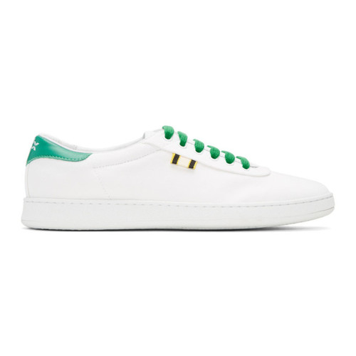 White & Green Canvas APR-003 Sneakers