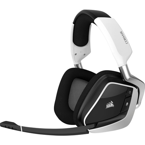 CORSAIR - VOID PRO RGB Wireless Dolby 7.1-Channel Surround Sound Gaming Headset for PC - White