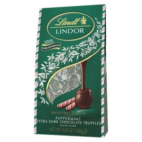 Lindt Lindor Christmas Dark Chocolate Peppermint Truffles - 6oz