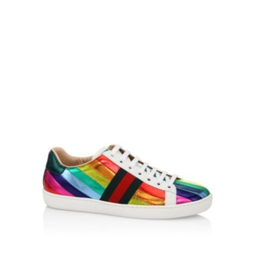 GUCCI Ace Metallic Rainbow Sneakers