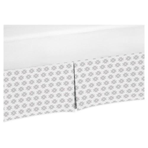 Gray & White Bed Skirt - Sweet Jojo Designs