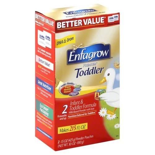 Enfamil Toddler Infant & Toddler Formula, Milk-Based Powder With Iron, 2, 2 - 15 oz (425 g) pouches