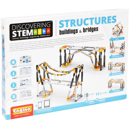 Engino STEM Mechanics Buildings & Bridges