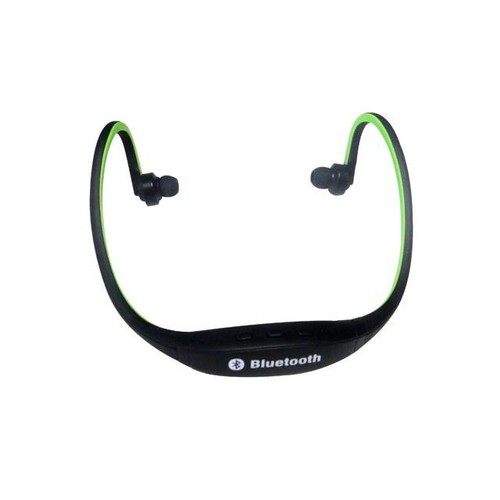 Wireless Bluetooth Headset Sports Stereo Headphone for Smart Cell Phone Green